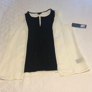 Mossimo black and cream shirt